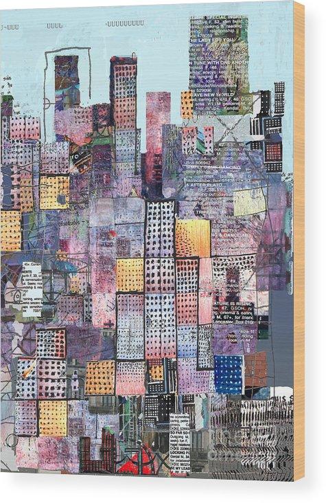 Metro Wood Print featuring the digital art Metropolis 3 by Andy Mercer