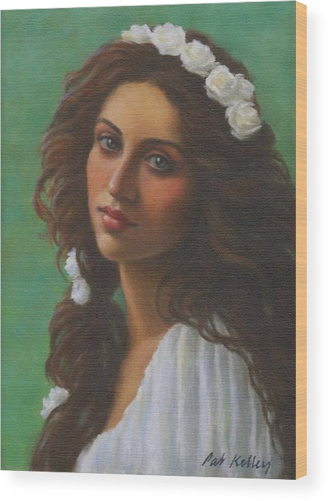 Beautiful Woman Wood Print featuring the painting Persephone by Pat Kelley