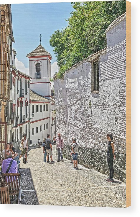 Church Wood Print featuring the photograph San Gregorio Granada by Digby Merry