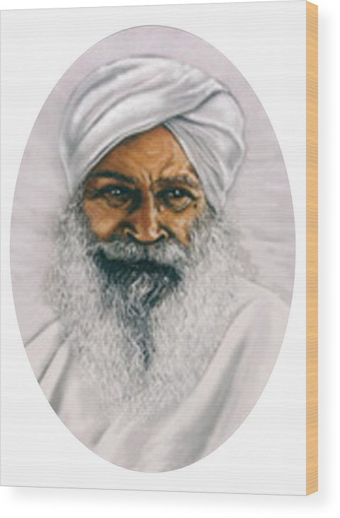 Pastels Wood Print featuring the painting Sant Kirpal Singh by Winifred Ann Weishampel