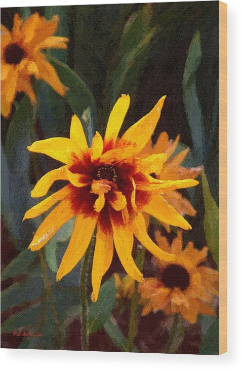 Brown Wood Print featuring the greeting card Showoff by RC DeWinter