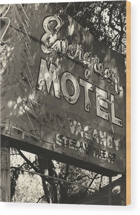 1950s Wood Print featuring the photograph The Evergreen On Santa Fe by Jim Furrer