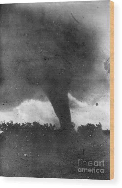 1913 Wood Print featuring the photograph Tornado, C1913-1917 by Granger