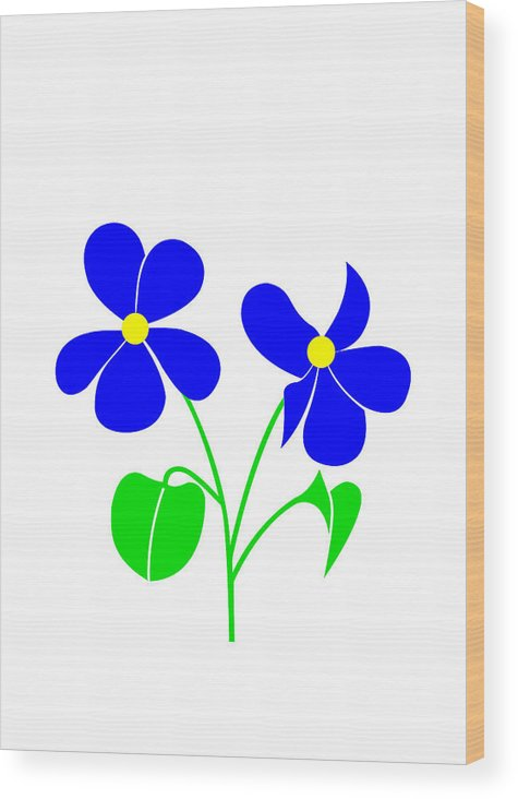 Violet Wood Print featuring the digital art Violet by Asbjorn Lonvig