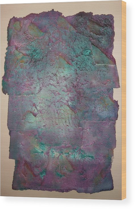Paper Wood Print featuring the mixed media Washroom Two by Grant Van Driest