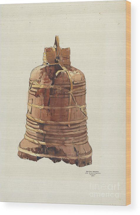 Wood Print featuring the drawing Wooden Bell by Dayton Brown