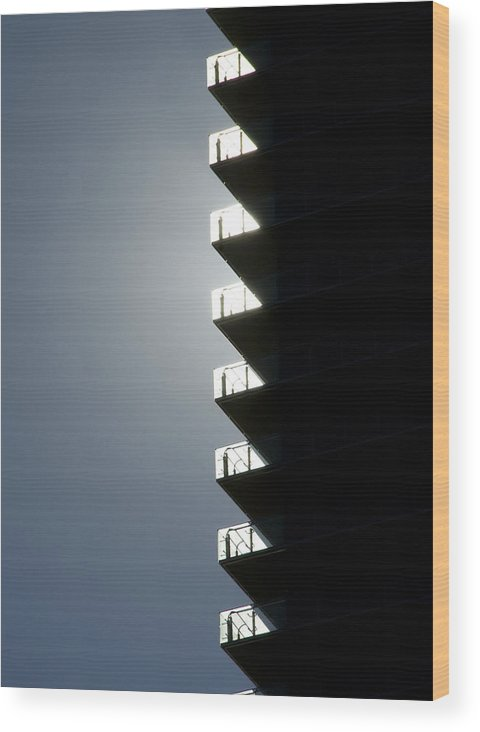 Architecture Wood Print featuring the photograph Zippernicity by John Gusky