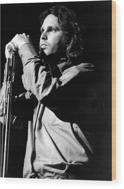 Performance Wood Print featuring the photograph Jim Morrison by Tom Copi