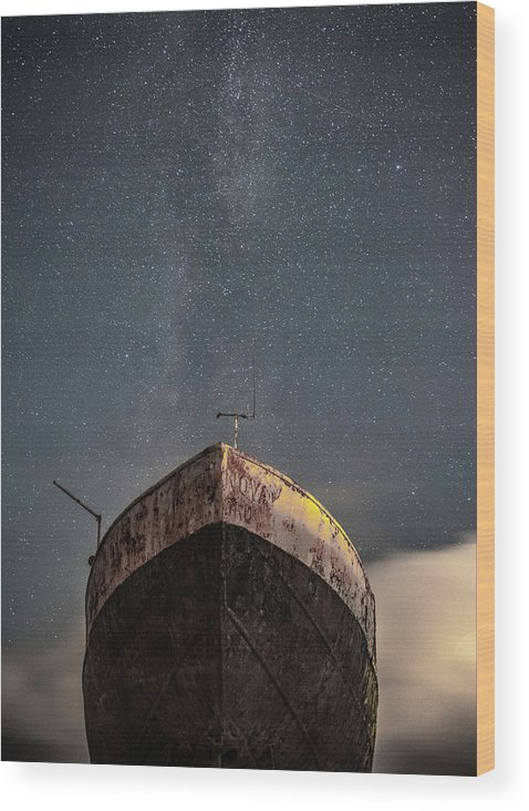 Milkyway Wood Print featuring the photograph New Life Milkway by Mark Mc neill