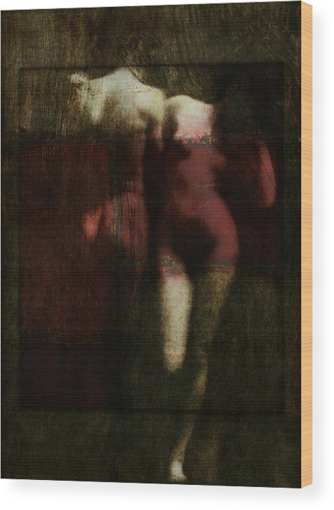 Nude Wood Print featuring the digital art Say Hello Wave Goodbye by Paul Lovering