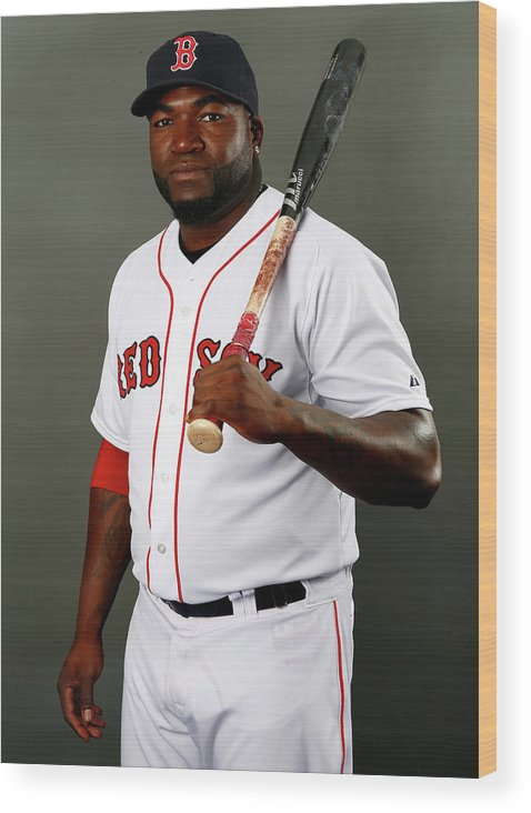 Media Day Wood Print featuring the photograph David Ortiz by Elsa