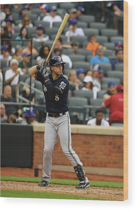 People Wood Print featuring the photograph Ryan Braun by Al Bello