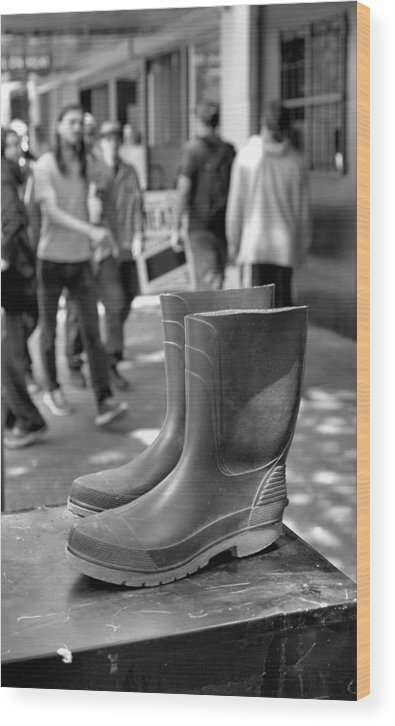 Rubber Boots Wood Print featuring the photograph Rubber Boots by Douglas Pike