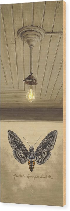 Architecture Wood Print featuring the painting Toward The Light by Ron Crabb