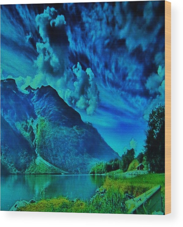 Wood Print featuring the photograph Storm Clouds by Gunter Hortz
