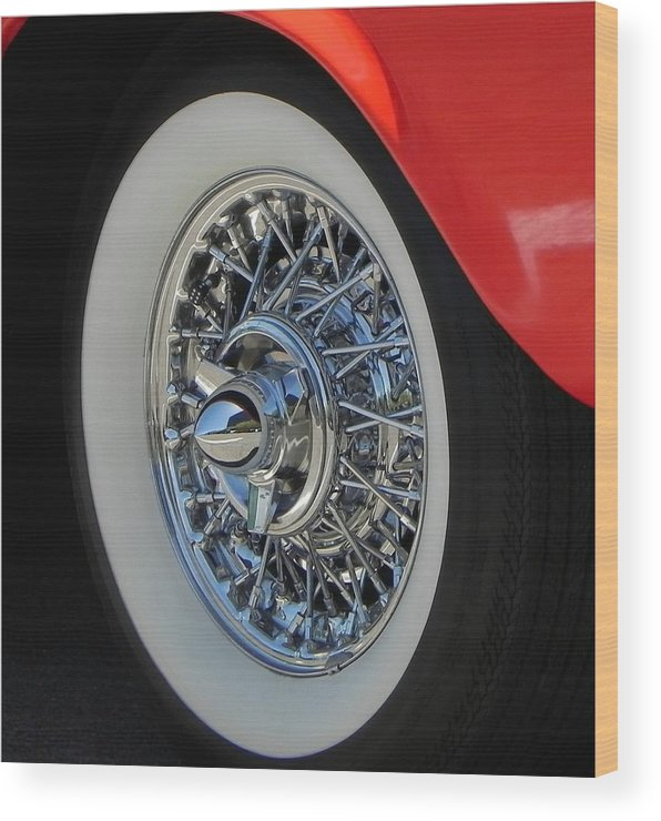 Wheels Wood Print featuring the photograph Keiser by Chuck Re