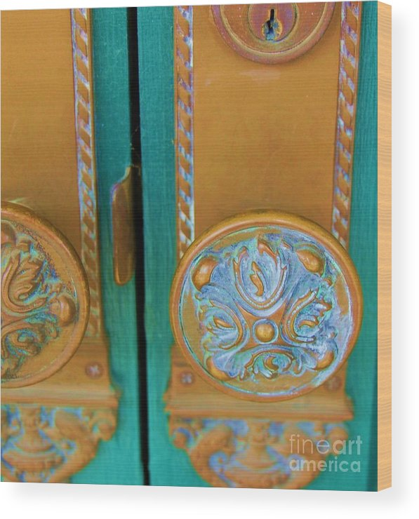 Door Wood Print featuring the photograph Brass Is Green by Debbi Granruth