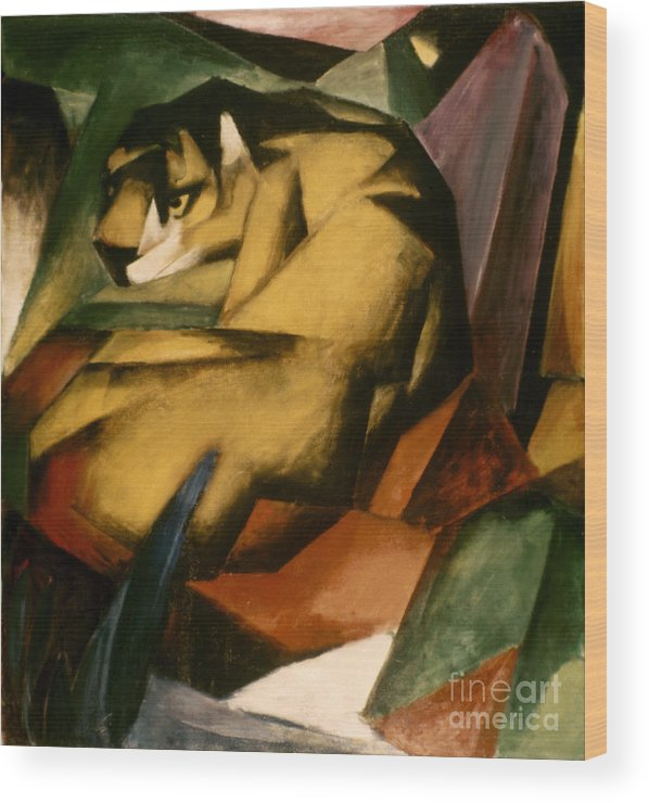 1912 Wood Print featuring the photograph Marc: The Tiger, 1912 by Granger