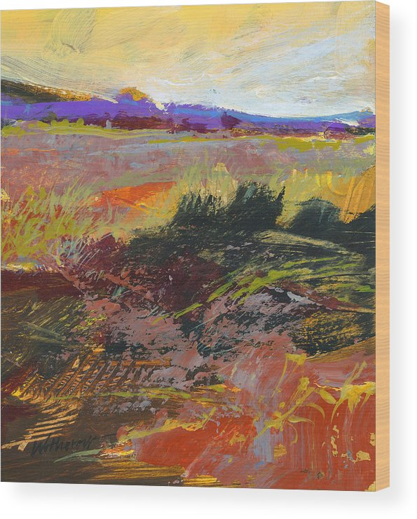 Oranges Wood Print featuring the painting Prarie Sketch by Dale Witherow