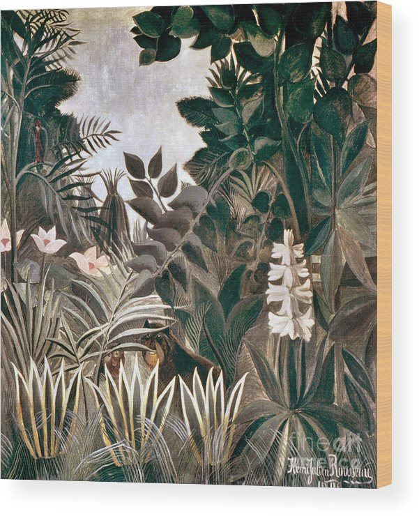 1909 Wood Print featuring the photograph Rousseau: Jungle, 1909 by Granger