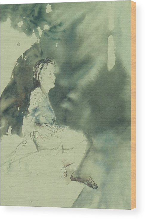 Light Wood Print featuring the painting Annunciation by Chae Min Shim