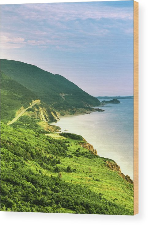 Adnt Wood Print featuring the photograph Canada, Nova Scotia, Cape Breton by Walter Bibikow