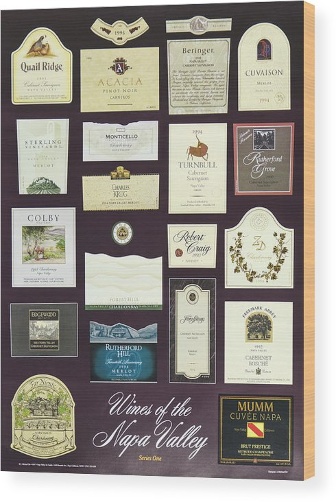 Poster Wood Print featuring the photograph Wines Of The Napa Valley - Series 1 by J Michael Orr