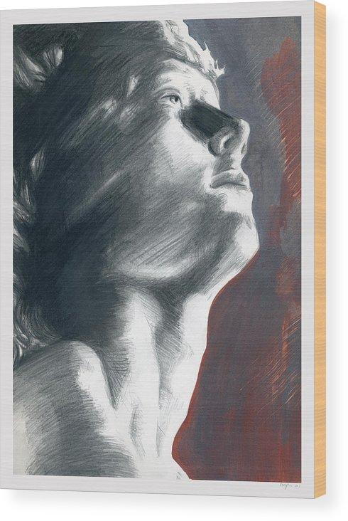 Faith Wood Print featuring the painting A Boy Named Faith by Rene Capone
