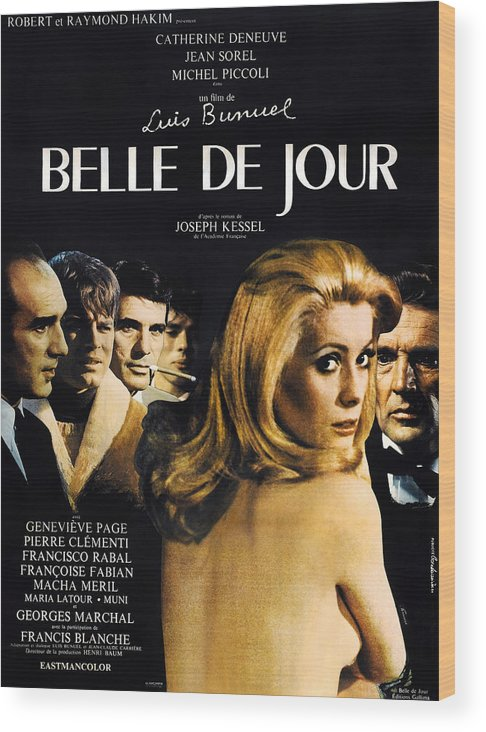 1960s Movies Wood Print featuring the photograph Belle De Jour, French Poster, Michel by Everett