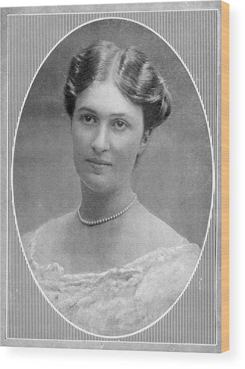 Bertha Wood Print featuring the photograph Bertha Krupp Daughter Of Friedrich by Mary Evans Picture Library