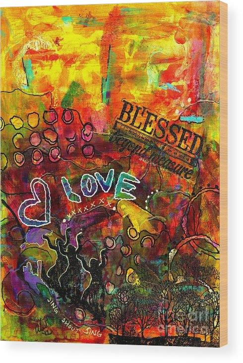 Acrylic Wood Print featuring the painting Blessed Beyond Measure by Angela L Walker