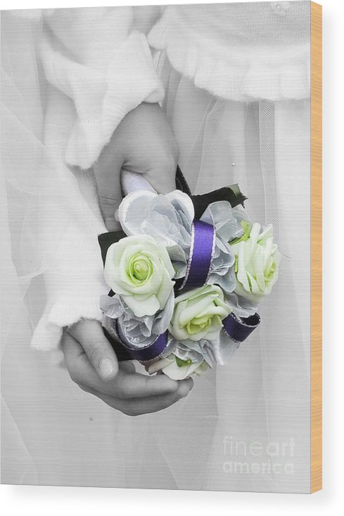 Bouquet Wood Print featuring the photograph Bridesmaid Bouquet by Paul Clavel