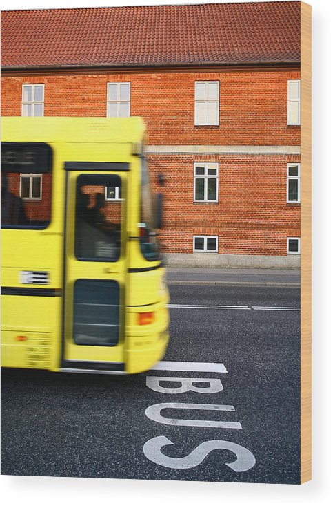 Autobus Wood Print featuring the photograph bus by Jean Schweitzer