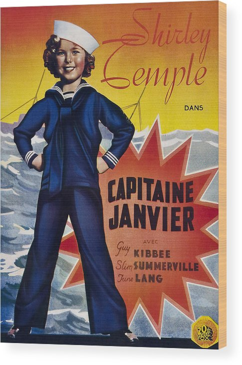1930s Movies Wood Print featuring the photograph Captain January Aka Capitaine Janvier by Everett