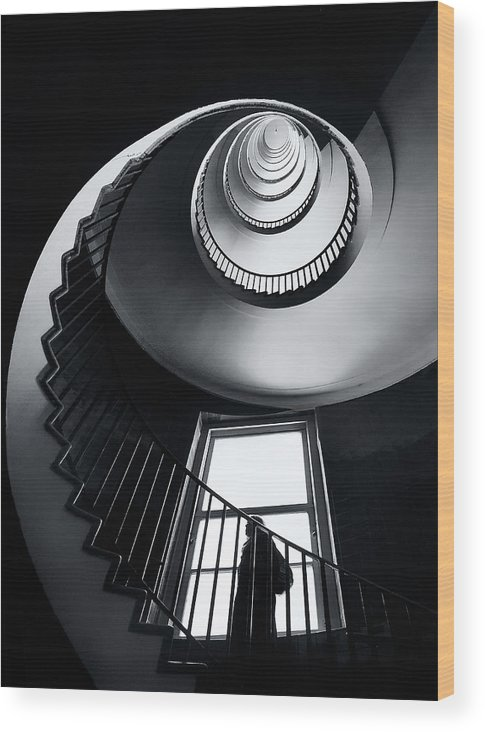 Stairs Wood Print featuring the photograph Challenge by Izidor Gasperlin