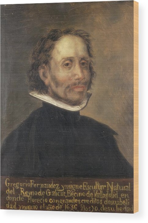 Vertical Wood Print featuring the photograph Fernandez, Gregorio 1576-1636. Spanish by Everett