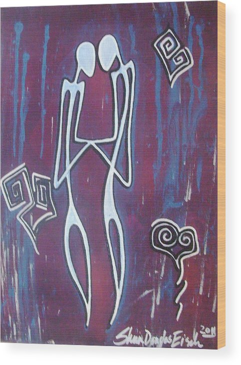 Acrylic Wood Print featuring the painting Holding Hands by Sheen Douglas Eisele