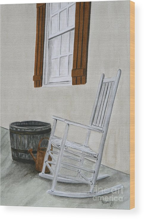 Americana Wood Print featuring the painting Lazy Day by Regan J Smith