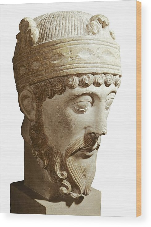 Vertical Wood Print featuring the photograph Lothair 941-986. King Of France by Everett