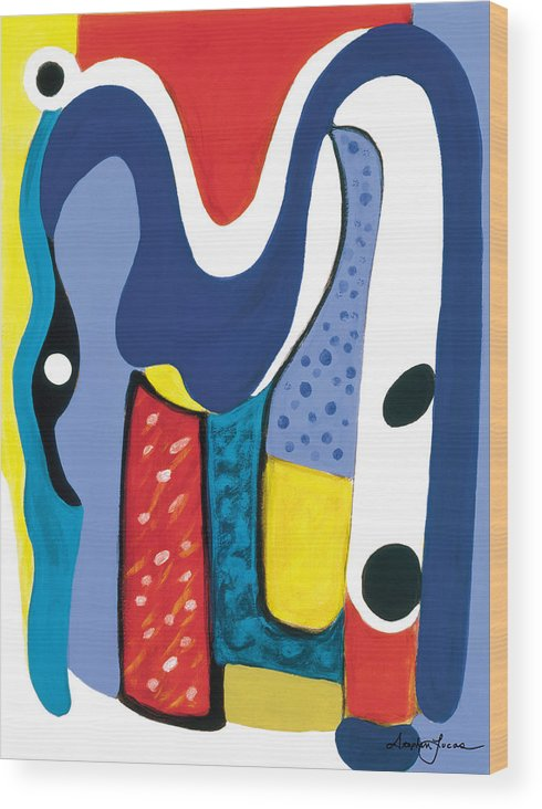 Abstract Art Wood Print featuring the painting Mirror Of Me 1 by Stephen Lucas