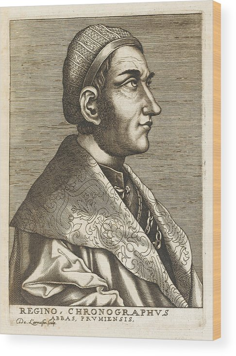 Regino Wood Print featuring the drawing Regino Von Prum Also Known As Reginon by Mary Evans Picture Library