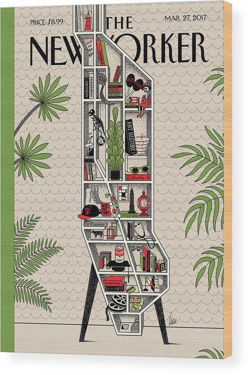 Shelf Life Wood Print featuring the painting Shelf Life by Luci Gutierrez