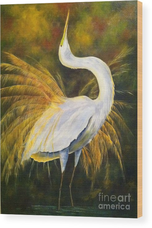 Wild Birds Wood Print featuring the painting Sunrise by Barbara Janecka