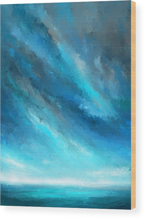 c1cad1a8abc Turquoise Memories - Turquoise Abstract Art Wood Print by Lourry Legarde