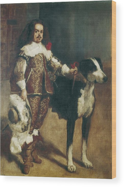 Vertical Wood Print featuring the photograph Velazquez, Pupil Of 17th Century. Court by Everett