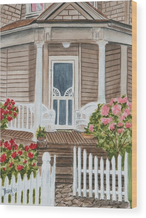 Architecture Wood Print featuring the painting Welcome by Regan J Smith