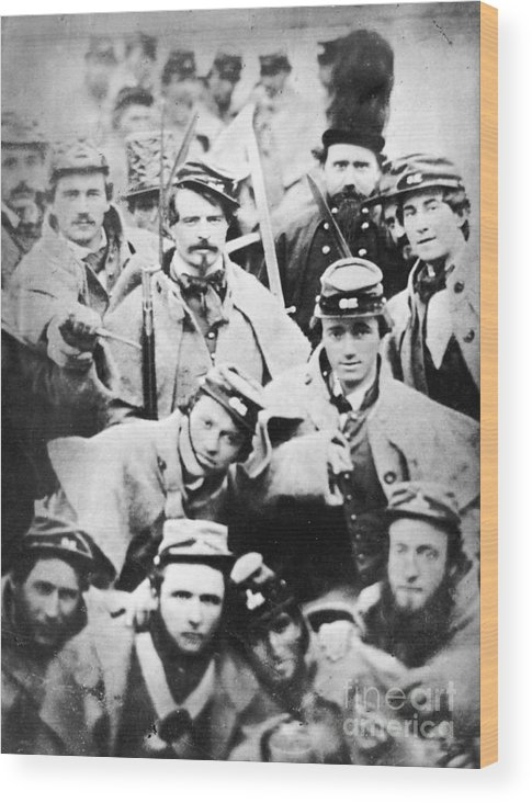 1861 Wood Print featuring the photograph Civil War Volunteers 1861 by Granger