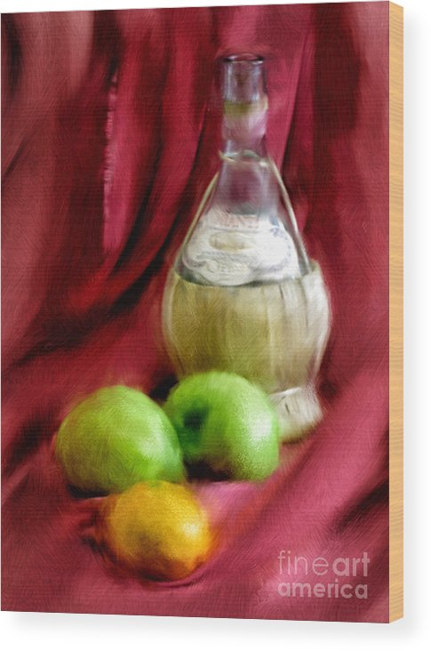 Red Wood Print featuring the photograph A Still Life by Peggy Starks
