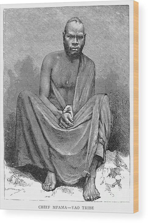 1889 Wood Print featuring the photograph Africa: Yao Chief, 1889 by Granger