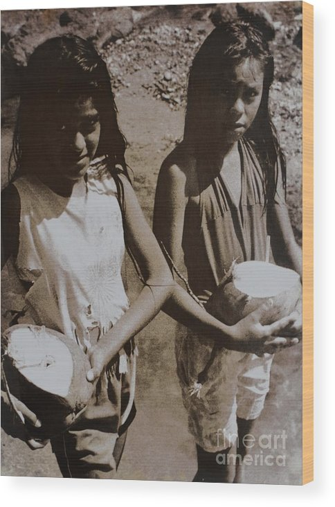 Costa Rica Wood Print featuring the photograph Maria Y Juanita 88 by Bradley